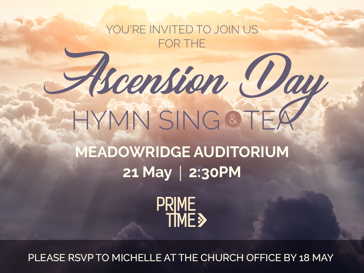 Ascension Day Hymn Sing & Tea @ Connect Church | Cape Town | Western Cape | South Africa